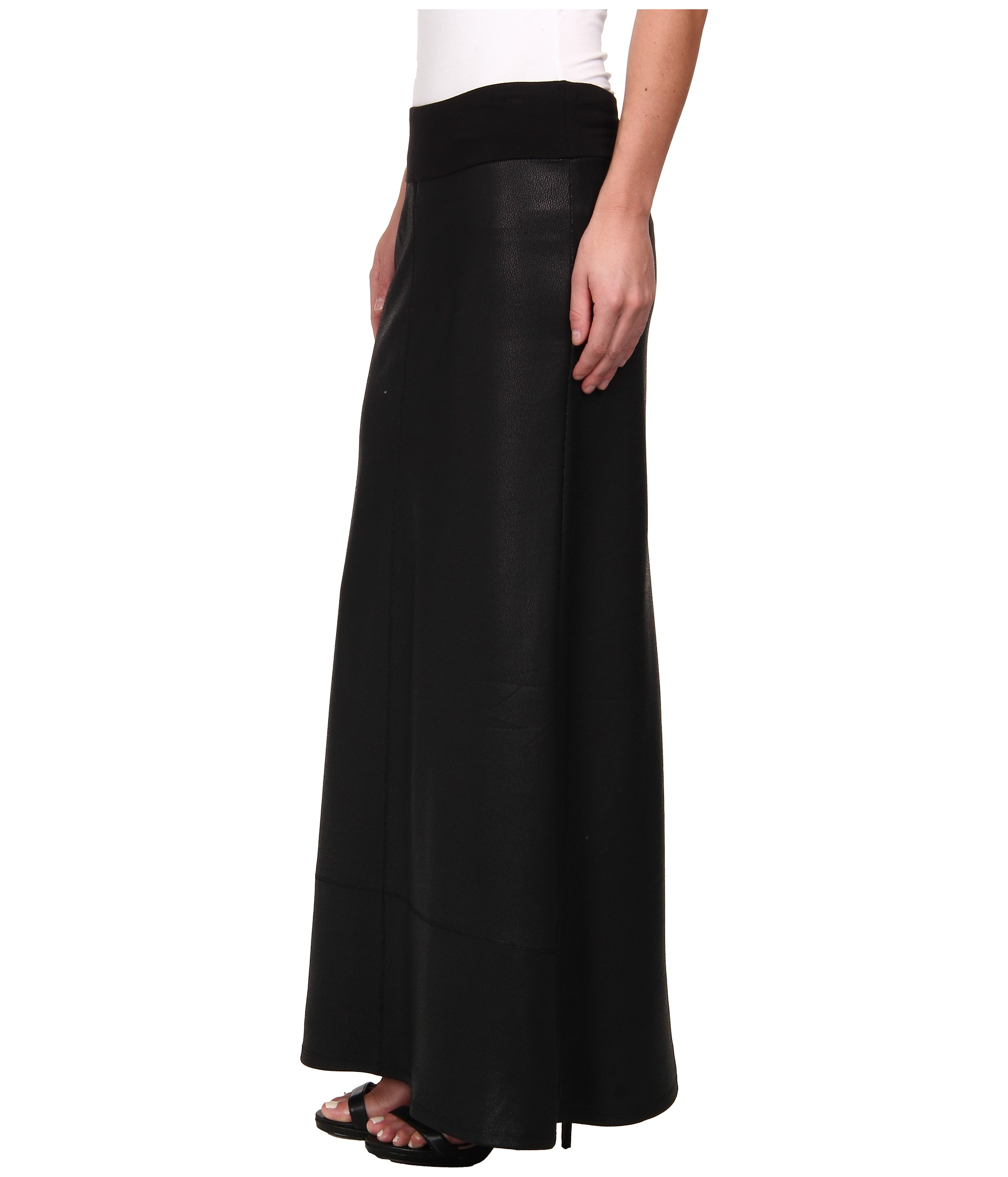 faux leather maxi skirt shipped free at zappos