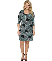 Karen Kane Plus - Plus Size Confetti Geo Dress