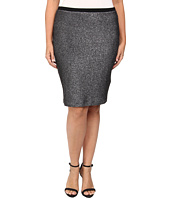 Karen Kane Plus - Plus Size Metallic Knit Pencil Skirt