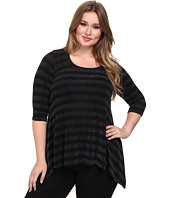 Karen Kane Plus - Plus Size Stripe Sparkle Top