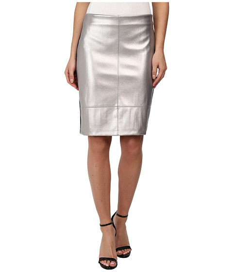 silver faux leather skirt 6pm