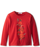 Dolce & Gabbana Kids - L/S Rose Embroidered T-Shirt (Infant)