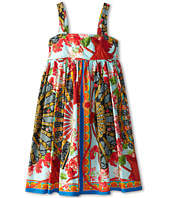 Dolce & Gabbana - Strappy Floral Print Poplin Dress (Big Kids)