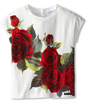 Dolce & Gabbana - Rose Print Jersey Tshirt (Toddler/Little Kids)