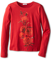 Dolce & Gabbana Kids - Embroidered Rose L/S Tee (Big Kids)