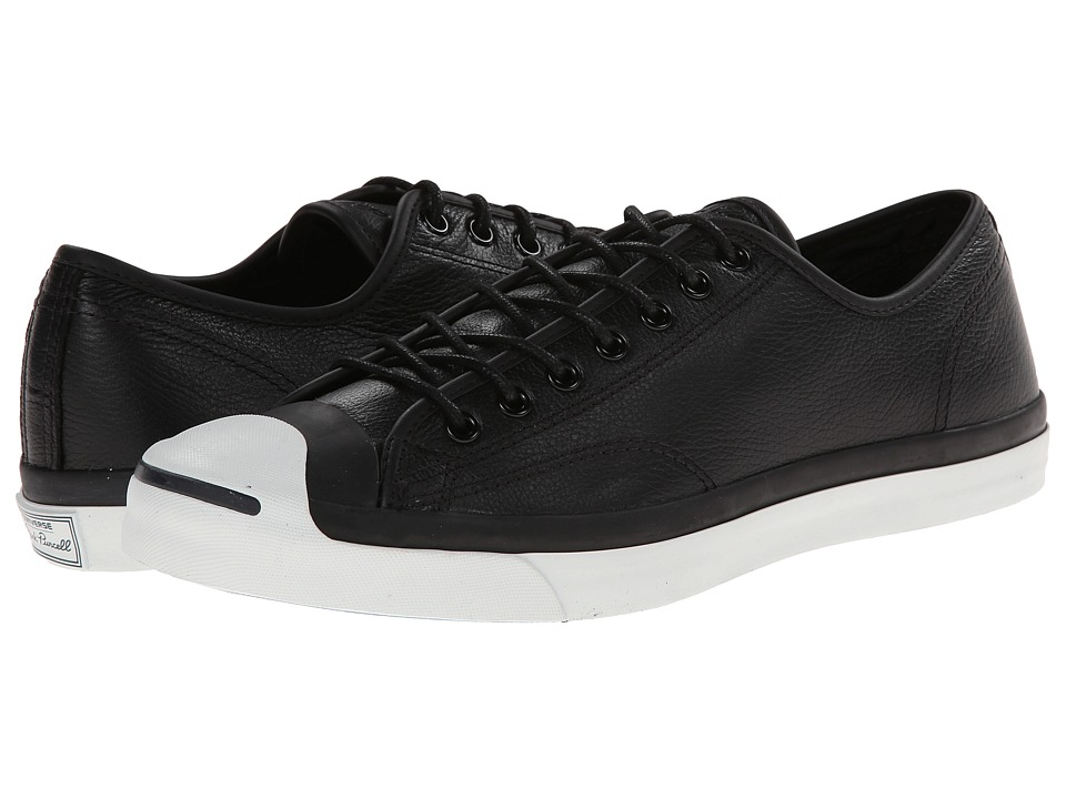 Converse Jack Purcell(r) Jack Ox Leather (Black 1) Athlet...