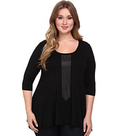 Karen Kane Plus - Plus Size 3/4 Sleeve Studded Hanky Top