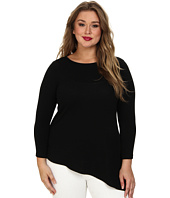 Karen Kane Plus - Plus Size Asymmetrical Knit Top