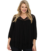 Karen Kane Plus - Plus Size Lace Inset Top