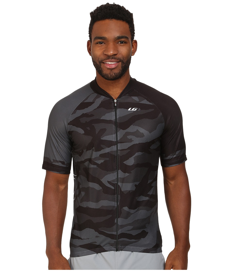 Louis Garneau Diamond MTB Jersey Camouflage Charcoal Mens Workout