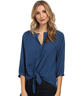 Karen Kane - Tie Front Shirred Top
