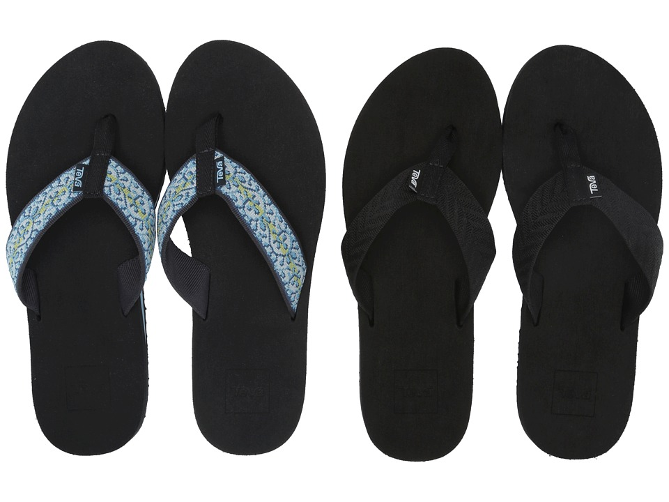 Teva Mush II 2 Pack Fronds Black/Companera Blue Womens Sandals