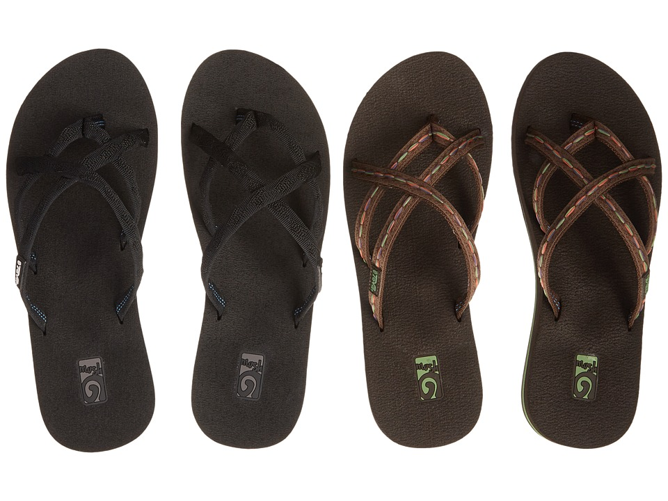 Teva Olowahu 2-Pack (Mibob/Felicitas Brown) Sandals