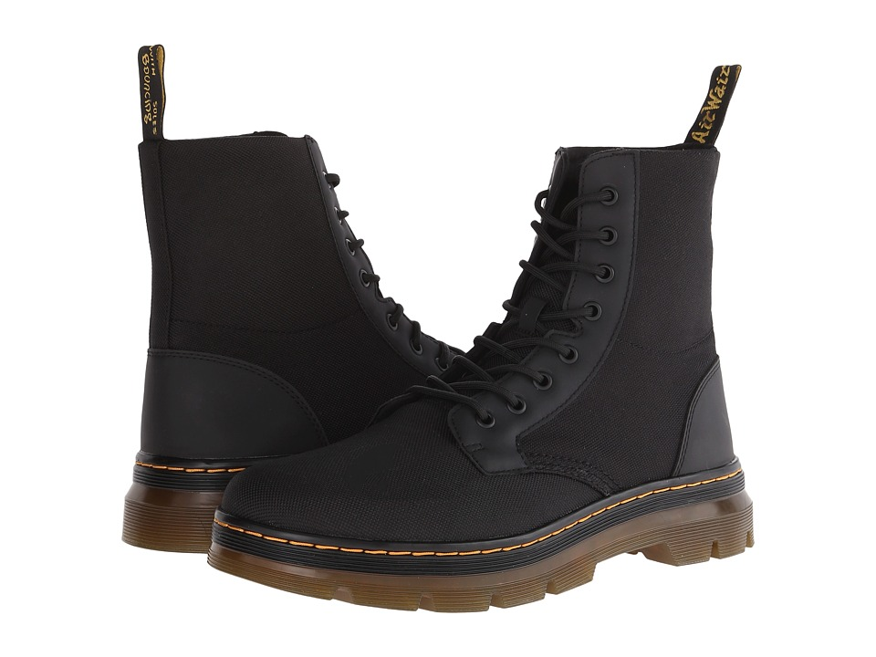 Dr. Martens Combs Fold Down Boot (Black Extra Tough Nylon/Rubbery) Lace-up Boots
