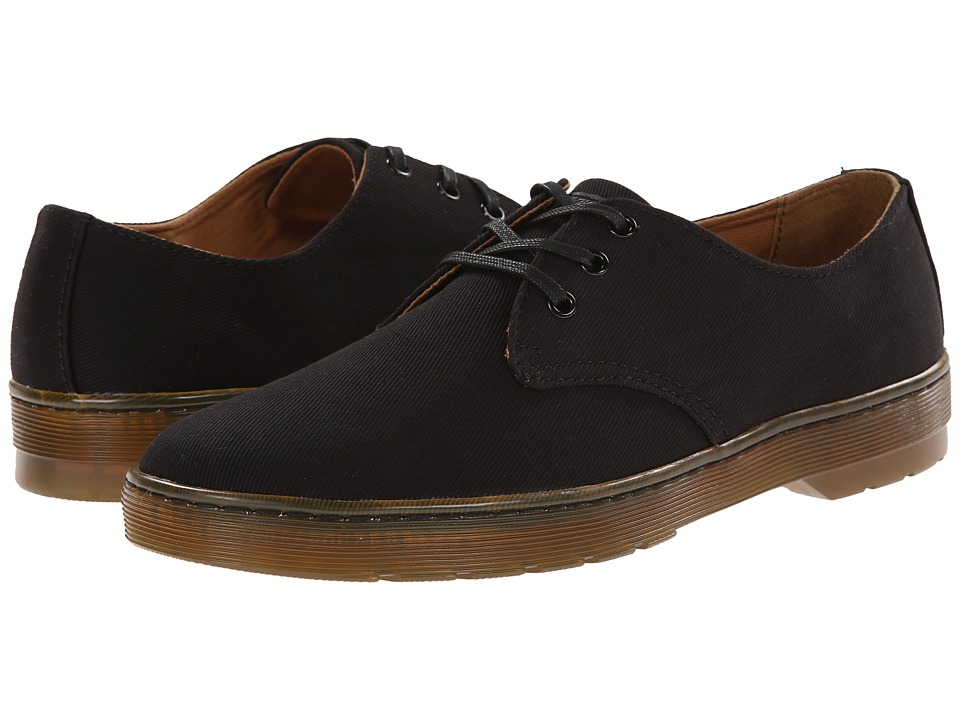 Dr. Martens - Delray 3-Eye (Black Overdyed Twill Canvas) Men
