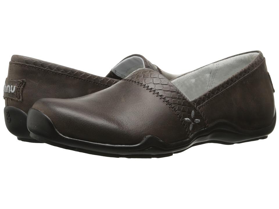 Ahnu Jackie Pro Reptile Embossed Coffee Bean Womens Slip on Shoes