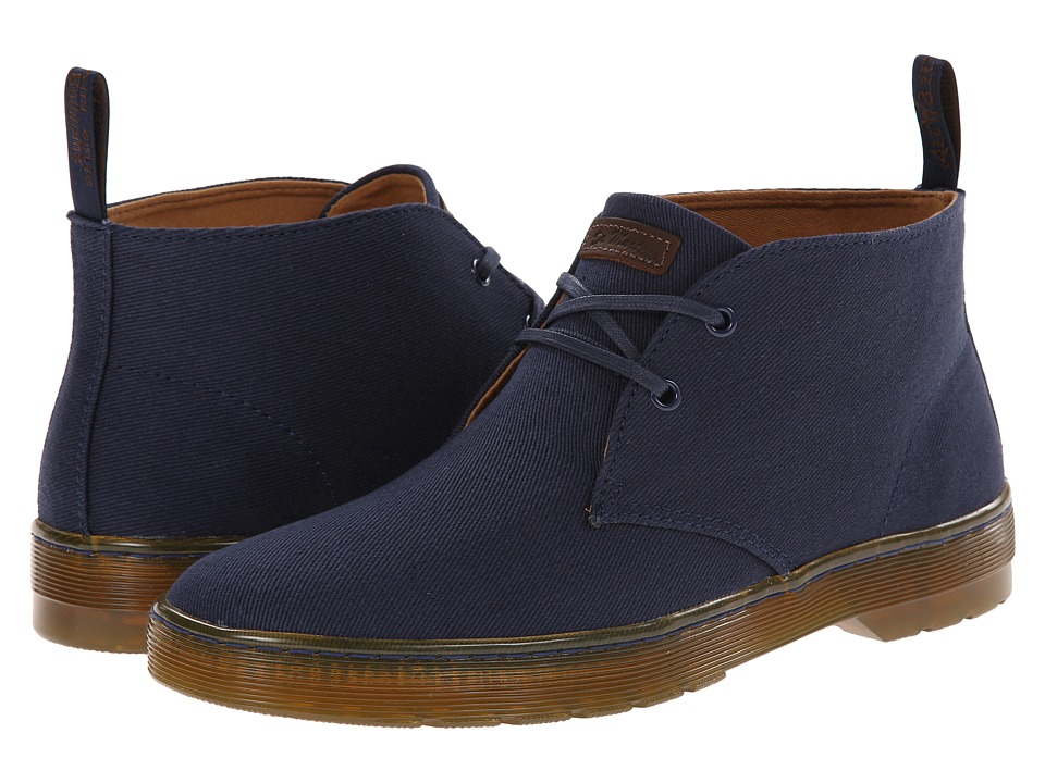 Dr. Martens - Mayport 2-Eye Desert Boot (Navy Overdyed Twill Canvas) Men
