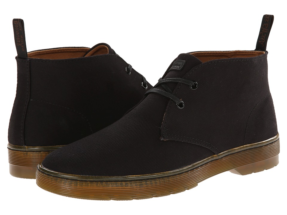 Dr. Martens - Mayport 2-Eye Desert Boot (Black Overdyed Twill Canvas) Men