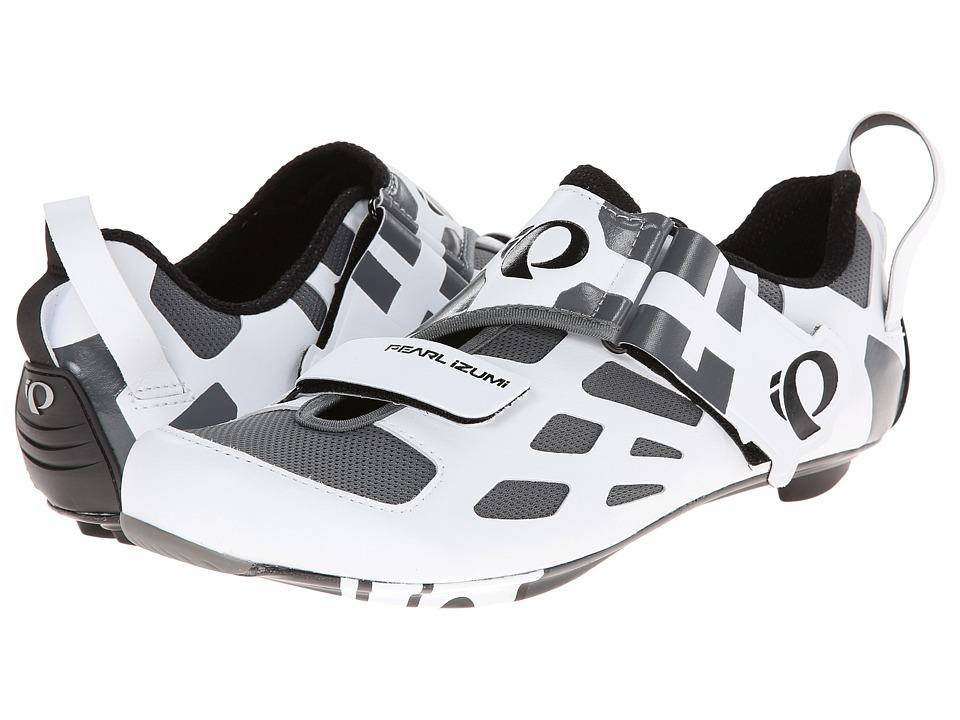 Pearl Izumi Tri Fly V Carbon White/Black Mens Cycling Shoes