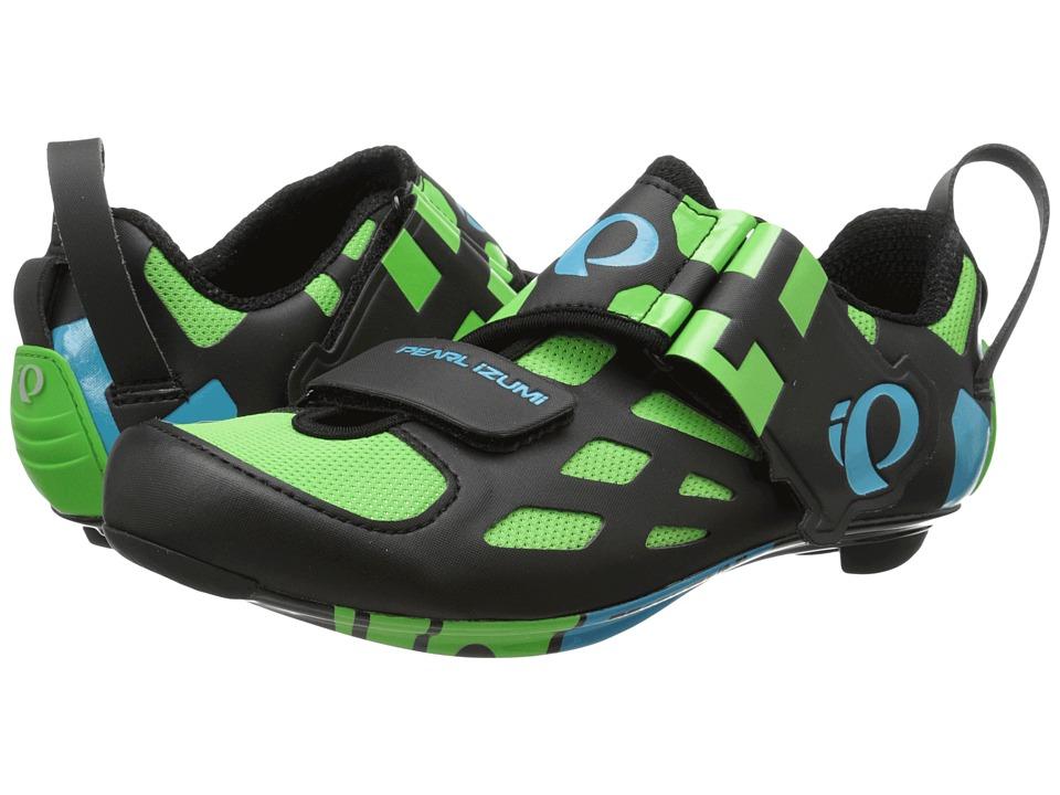 Pearl Izumi Tri Fly V Carbon Green Flash 15 Mens Cycling Shoes