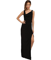 Badgley Mischka - Beaded Shoulder Matte Jersey Gown