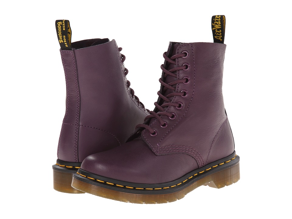 Dr. Martens Pascal 8 Eye Boot Purple Virginia Lace up Boots