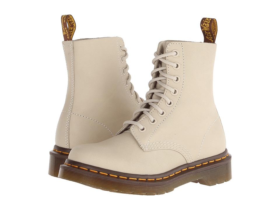 Dr. Martens Pascal 8 Eye Boot Ivory Virginia Lace up Boots