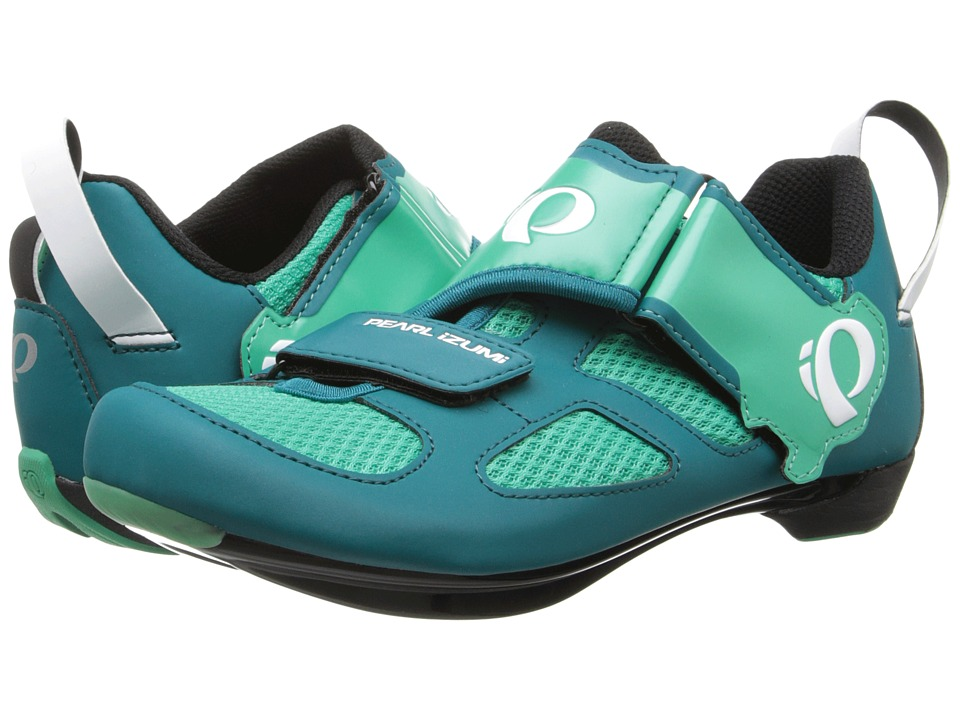 Pearl Izumi - W Tri Fly V (Deep Lake/Gumdrop) Womens Cycling Shoes