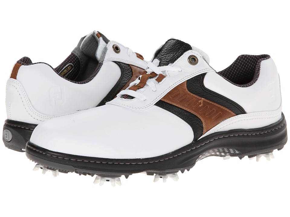 FootJoy - Contour Series (White/Taupe/Black) Mens Golf Shoes