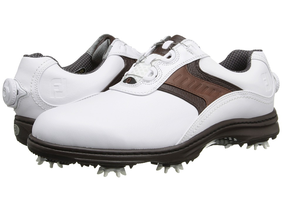 FootJoy Contour Series White/Dark Brown SP15 Mens Golf Shoes