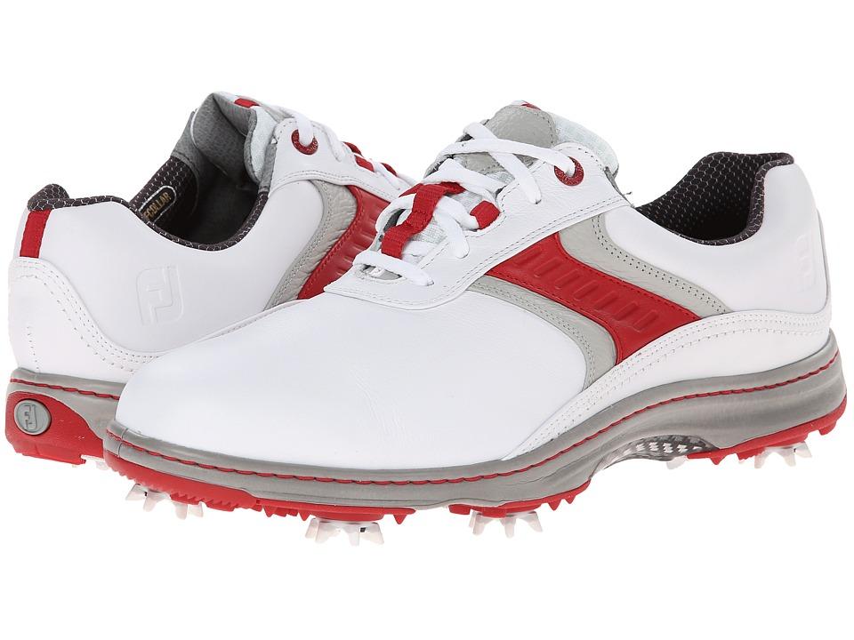 FootJoy Contour Series White/Light Grey/Red Mens Golf Shoes
