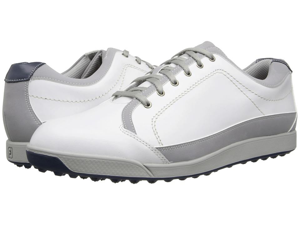FootJoy Contour Casual White/Light Grey Mens Golf Shoes