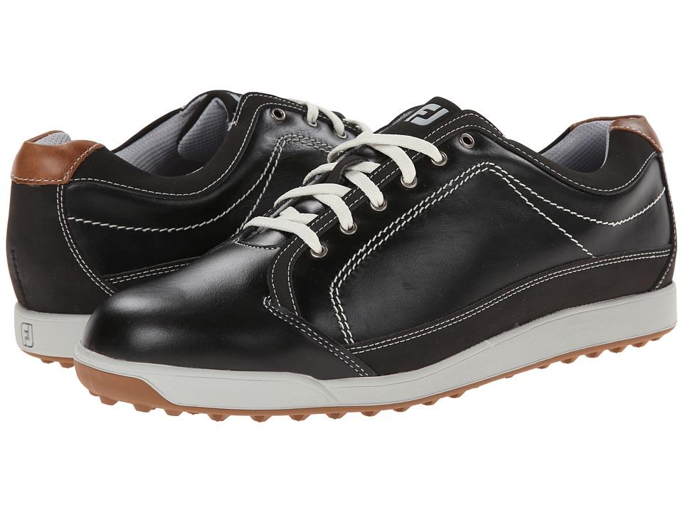 FootJoy Contour Casual Black/Taupe Mens Golf Shoes