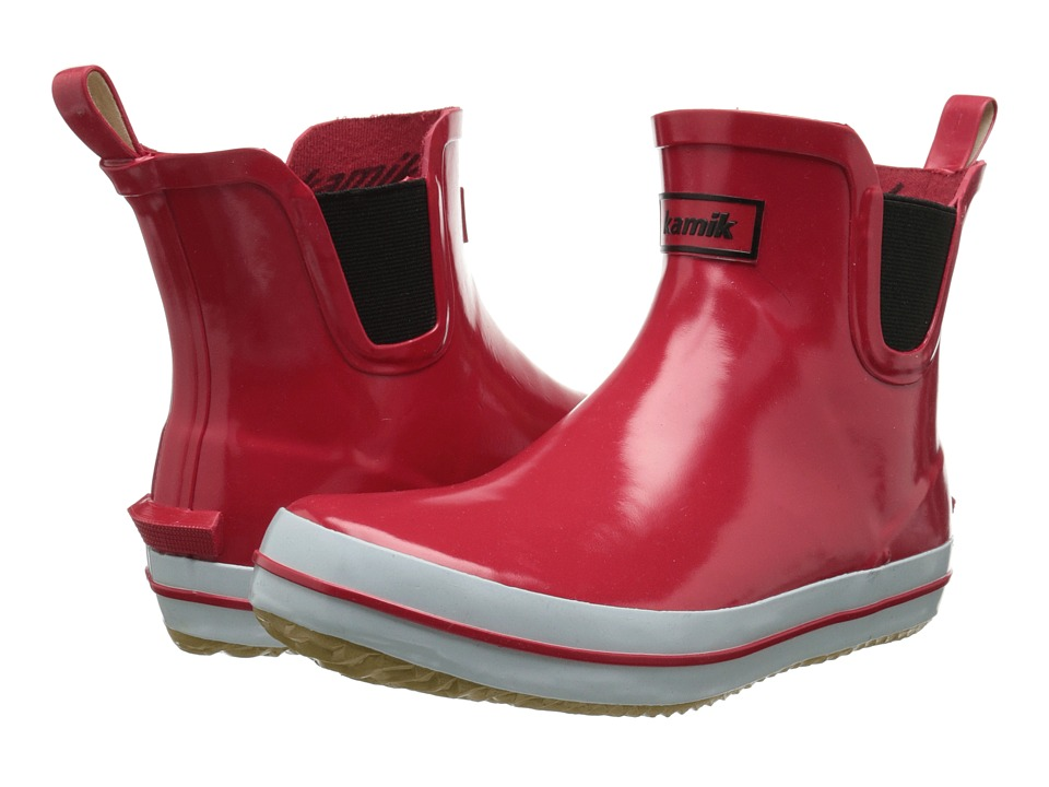 Kamik Sharon Lo Red Womens Rain Boots