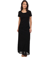 Tommy Bahama - Knit & Chiffon Shirred Long T-Shirt Dress w/ Side Slits Cover-Up