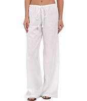 Tommy Bahama - Crinkle Cotton Drawstring Long Pants w/ Tassels Cover-Up
