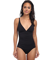 Tommy Bahama - Pearl Solids Over The Shoulder V-Neck Cup One-Piece