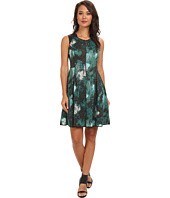Marc New York by Andrew Marc - Front Zip Fit & Flare Dress MD4K8374