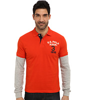 U.S. POLO ASSN. - Long Sleeve Slim Fit Polo and Thermal Hang Down