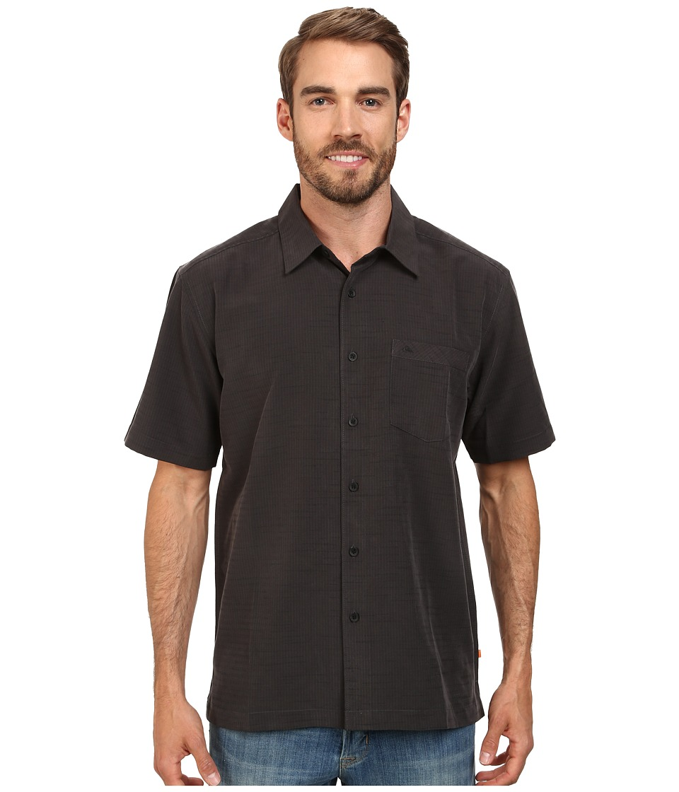 Quiksilver Waterman - Centinela 4 Traditional Polynosic Woven Top (Black) Mens Clothing
