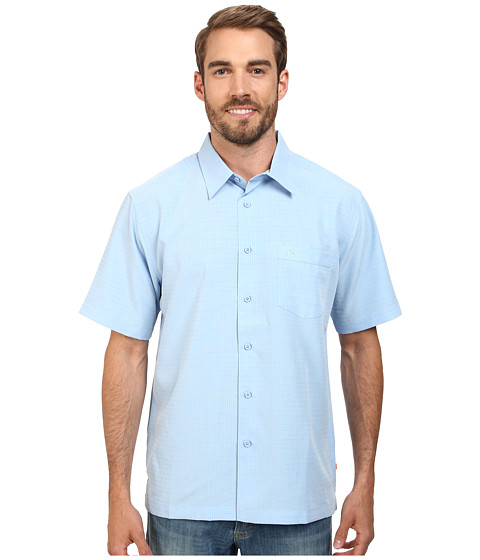 Quiksilver Waterman Centinela 4 Traditional Polynosic Woven Top - Azure