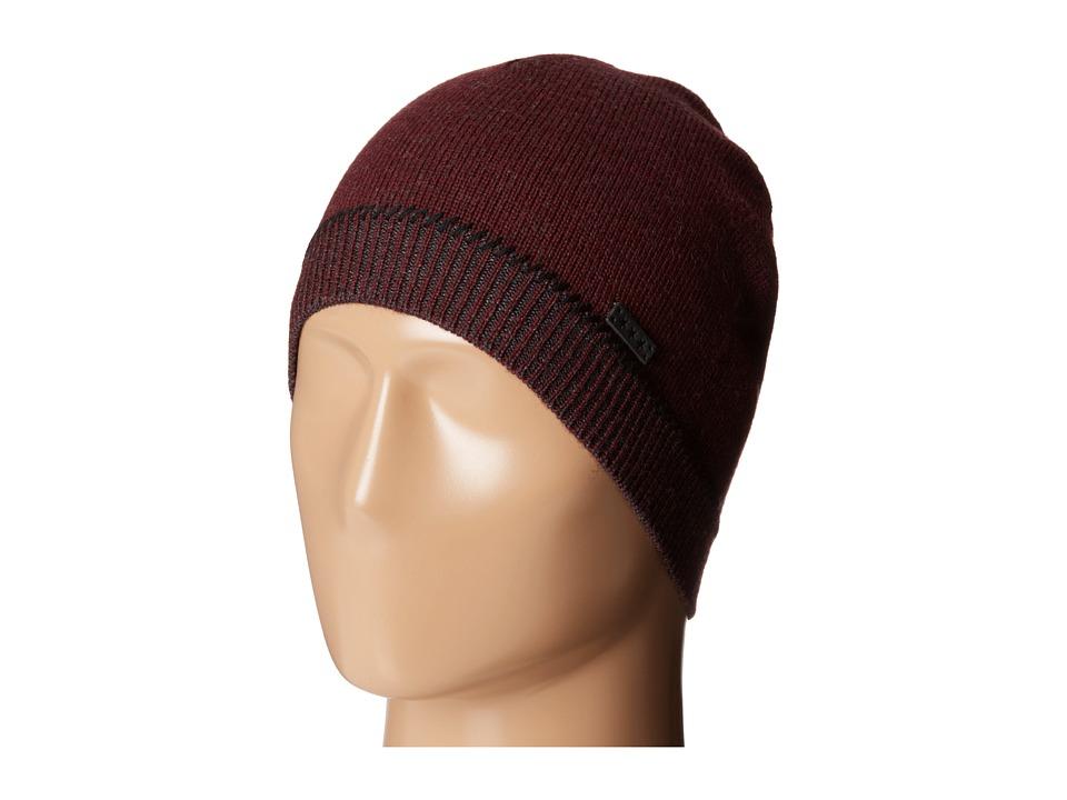 John Varvatos Star U.S.A. Jersey Skull Whip Stitch Garnet Caps