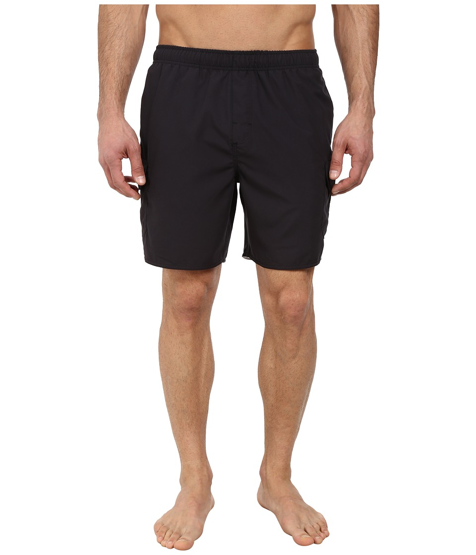 Quiksilver Waterman Balance 6 Elastic Waist Volley Short Black Mens Shorts