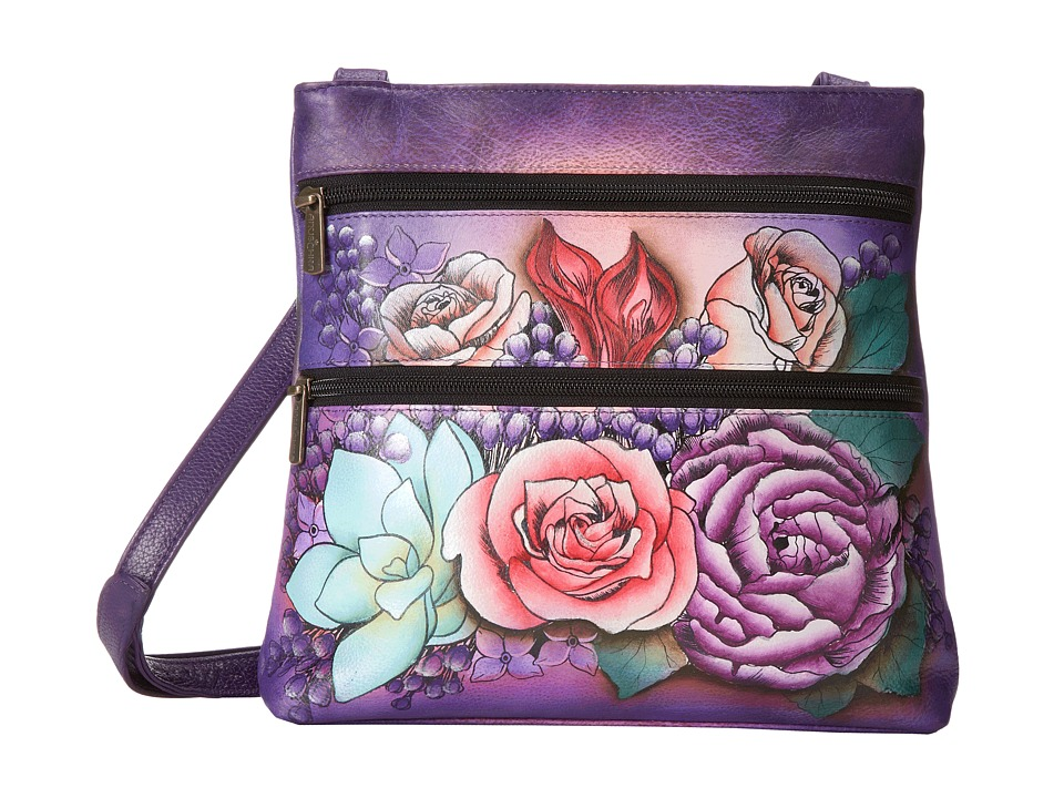 Anuschka Handbags - 447 (Lush Lilac) Cross Body Handbags