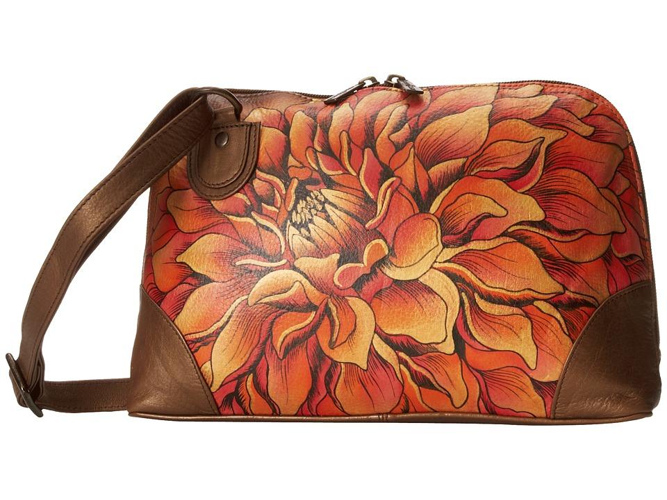 Anuschka Handbags - 531 (Dreamy Dahlias Bronze) Handbags