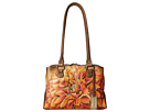 Anuschka Handbags 545 (Dreamy Dahlias Bronze)