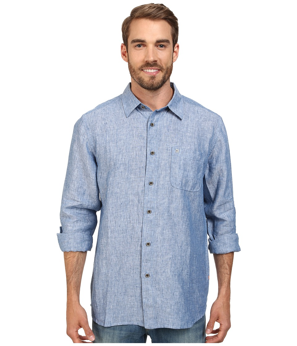 Quiksilver Waterman Burgess Isle Traditional Woven Top Indigo Mens Clothing