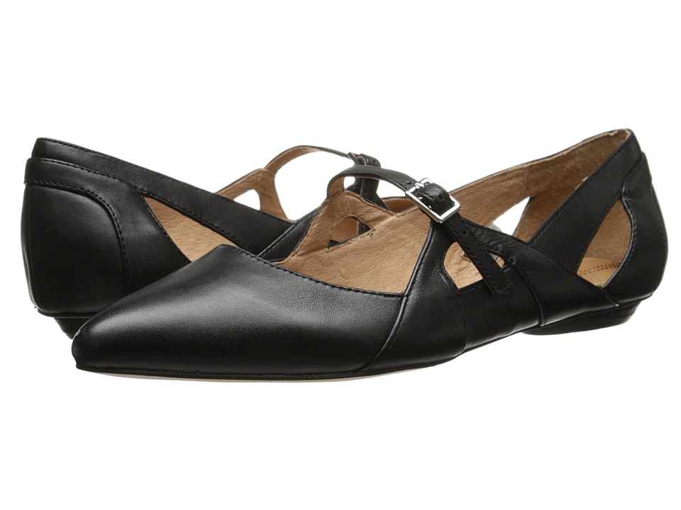 Corso Como - Mystic Black Nappa Leather Womens Flat Shoes $119.00 AT vintagedancer.com