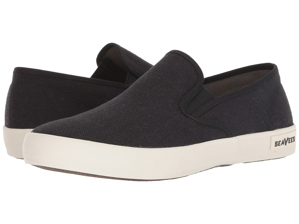 SeaVees 02/64 Baja Slip on Standard Black Mens Shoes