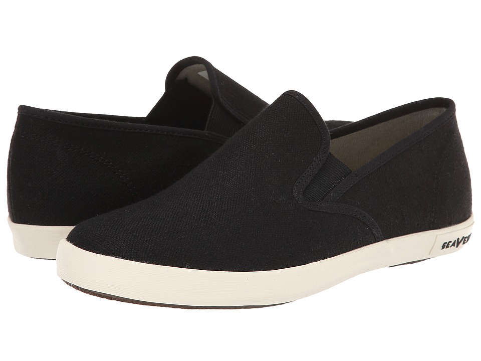 SeaVees 02/64 Baja Slip on Standard Black Womens Slip on Shoes